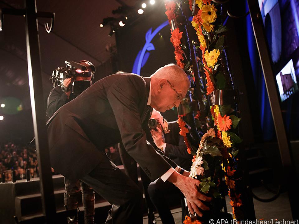 Bundespräsident Van der Bellen in Yad Vashem