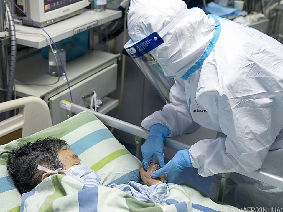 Coronavirus-Patient im Universitätsspital Wuhan