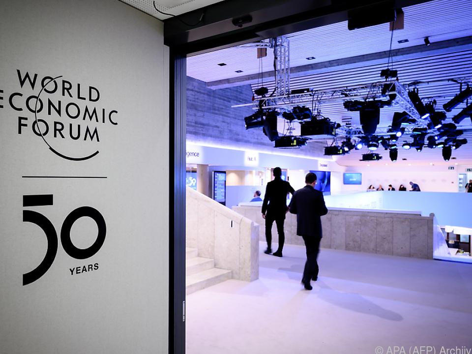 Das Weltwirtschaftsforum findet einmal jährlich in Davos statt