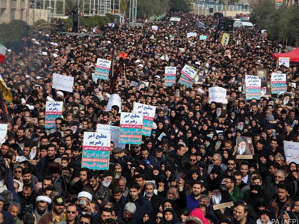 Empörung im Iran über Vorgehen der USA
