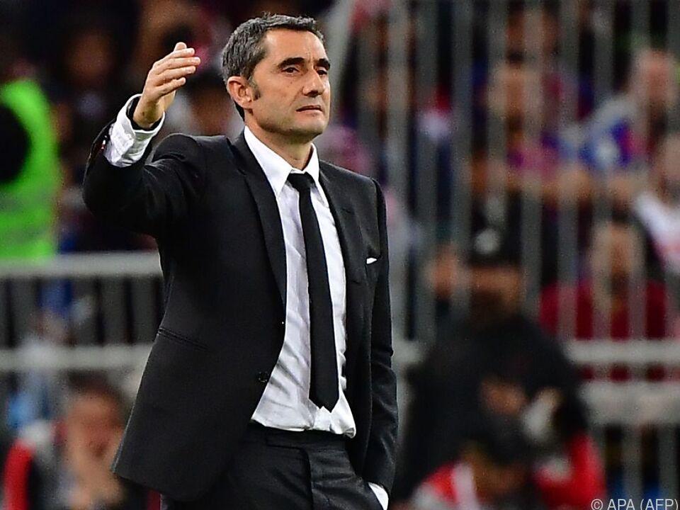Ernesto Valverde hatte beim FC Barcelona zuletzt kein Glück