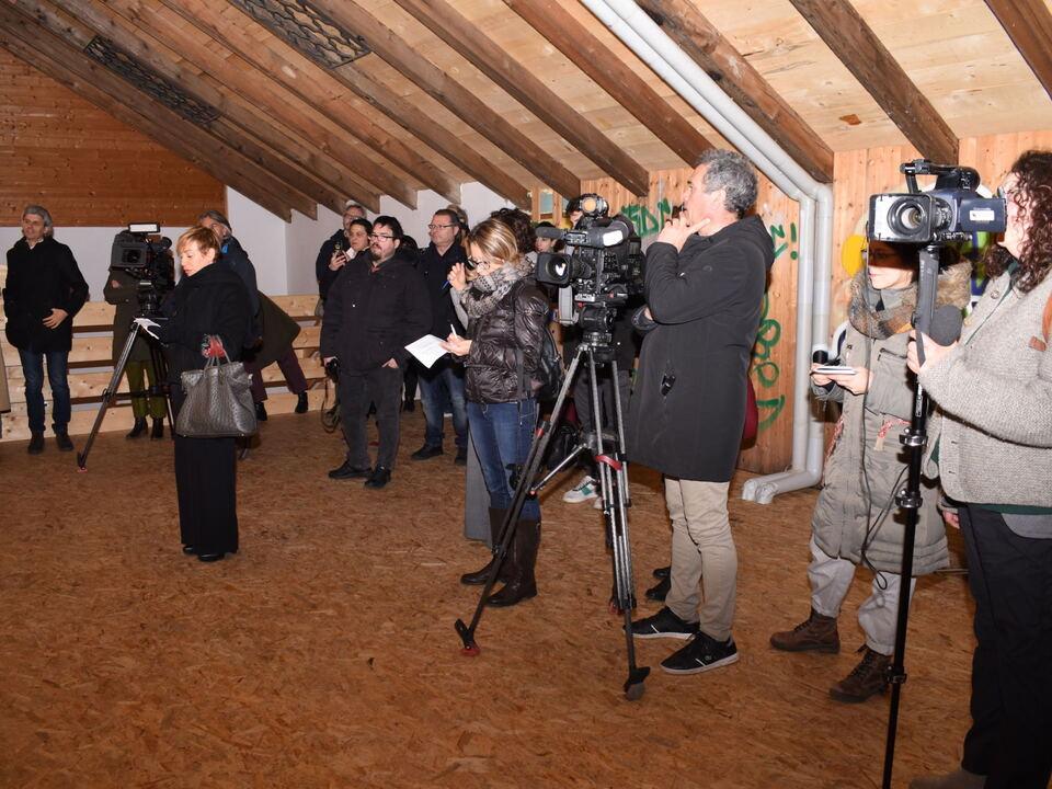 Großes Medieninteresse im Zeilerhof