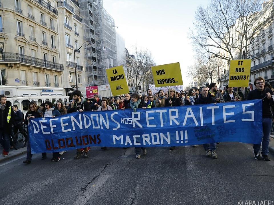 In Frankreich weiter demonstriert und gestreikt