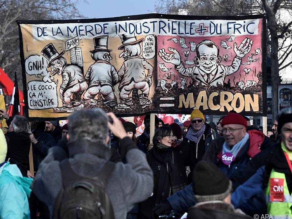 In Paris gingen erneut Menschen auf die Straße