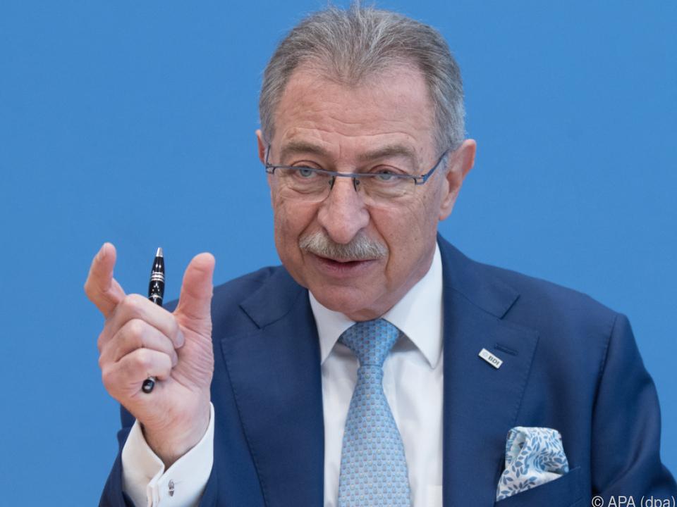 Industriepräsident Dieter Kempf änderte seine Meinung