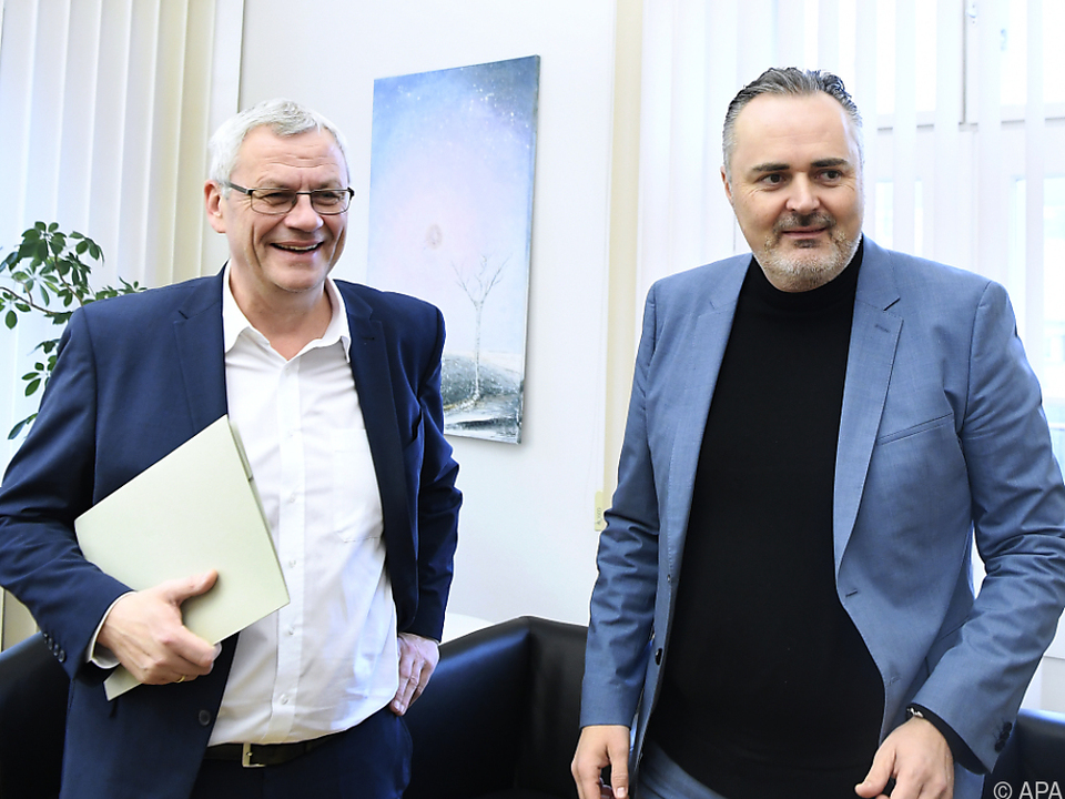 ÖVP-Chef Thomas Steiner traf SPÖ-Chef Hans Peter Doskozil