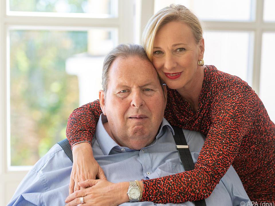 Ottfried Fischer und seine Lebensgefährtin Simone Brandlmeier