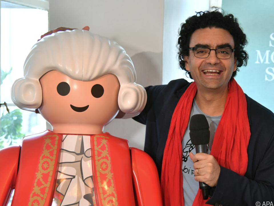 Rolando Villazon (rechts) präsentierte Programm der Mozartwoche