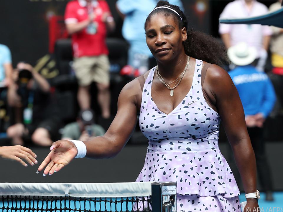 Serena Williams fand ihren Auftritt \