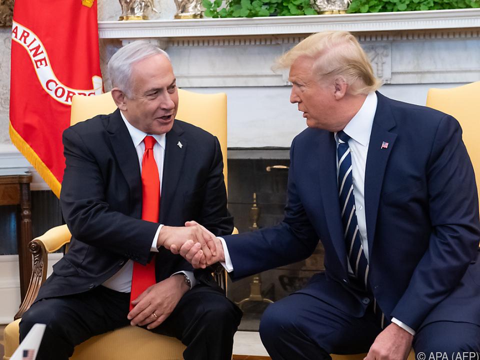 Trump empfing Netanyahu im Oval Office