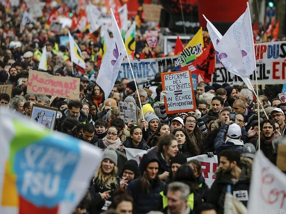 Unmut gegen die Regierung ist in Frankreich an der Tagesordnung
