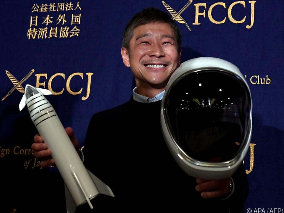 Yusaku Maezawa ist vom Orbit fasziniert