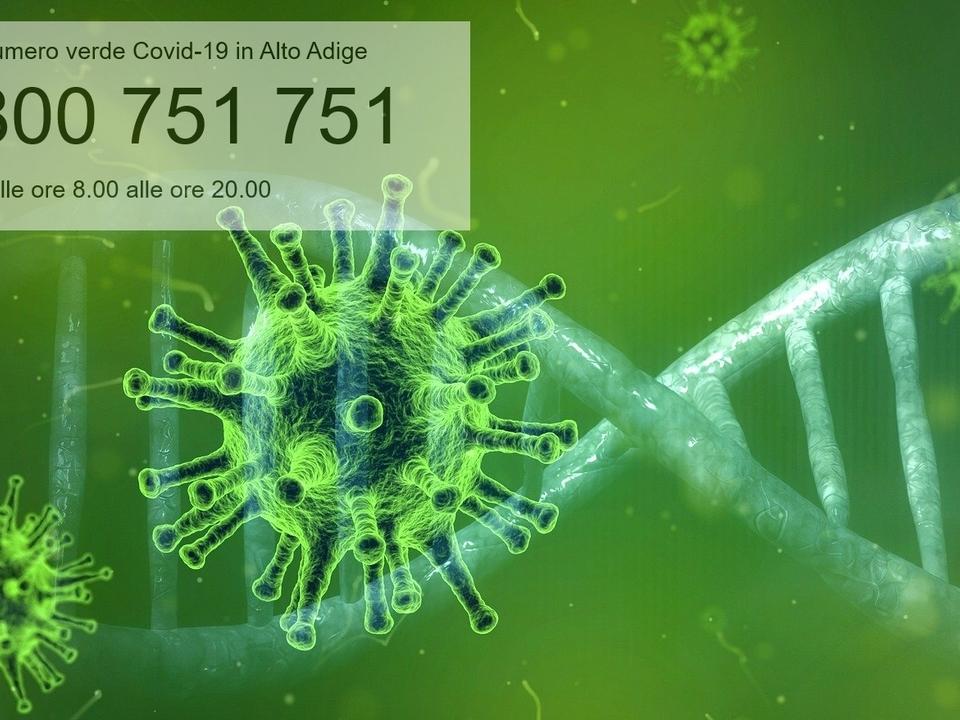 Coronavirus mit grüner Nummer Südtiroll