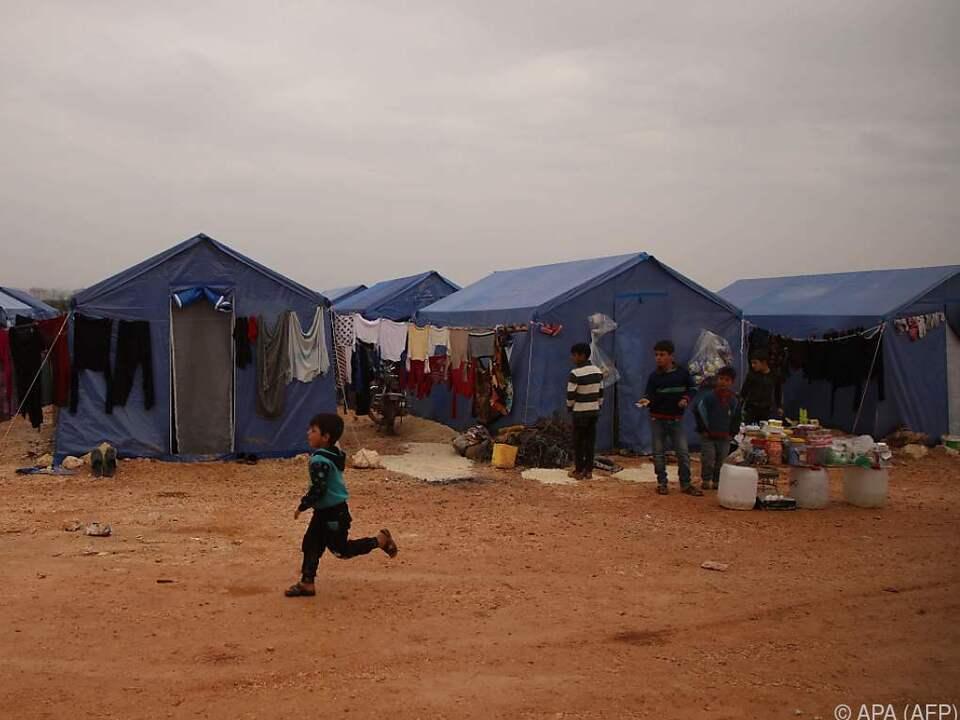 600.000 Menschen sind in der Region um Idlib auf der Flucht