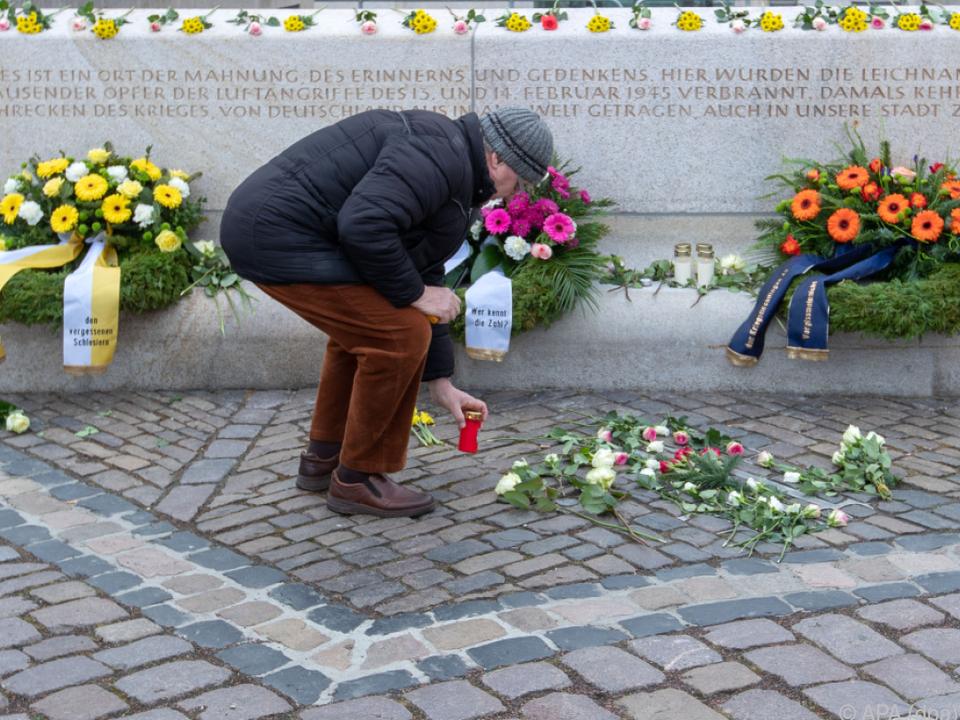 75. Jahrestag der Zerstörung Dresdens