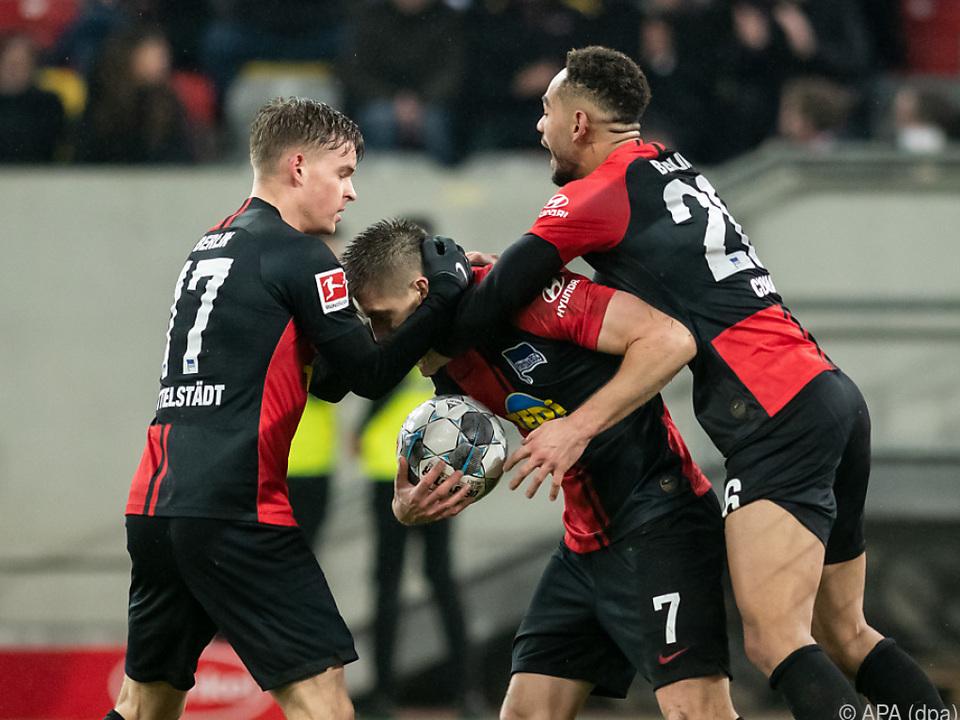 Am Ende konnte Hertha tatsächlich noch einen Punkt bejubeln
