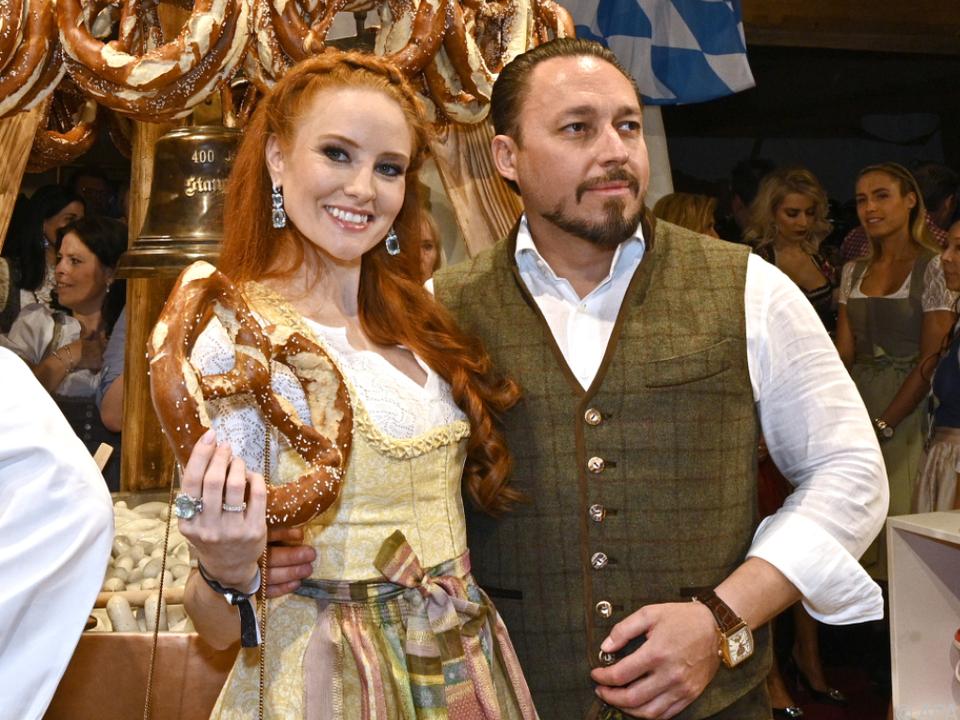 Barbara Meier und Klemens Hallmann kürzlich bei der Weißwurstparty
