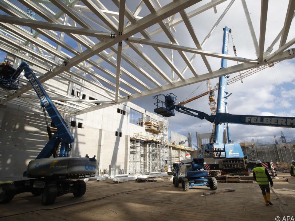 Bauarbeiten für neue Infineon-Fabrik in Villach