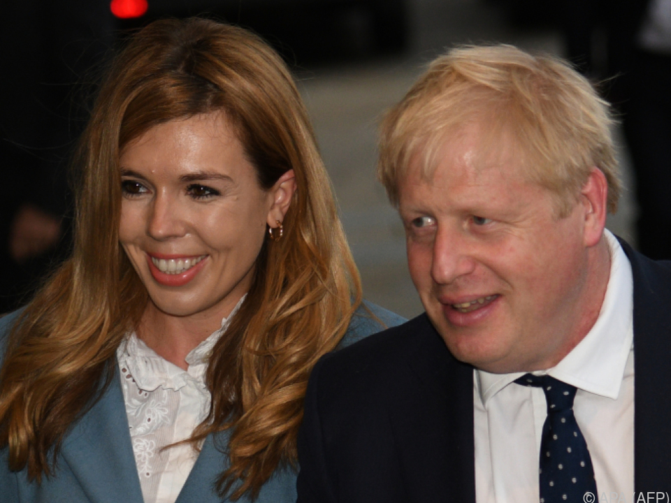 Boris Johnson mit Partnerin Carrie Symonds