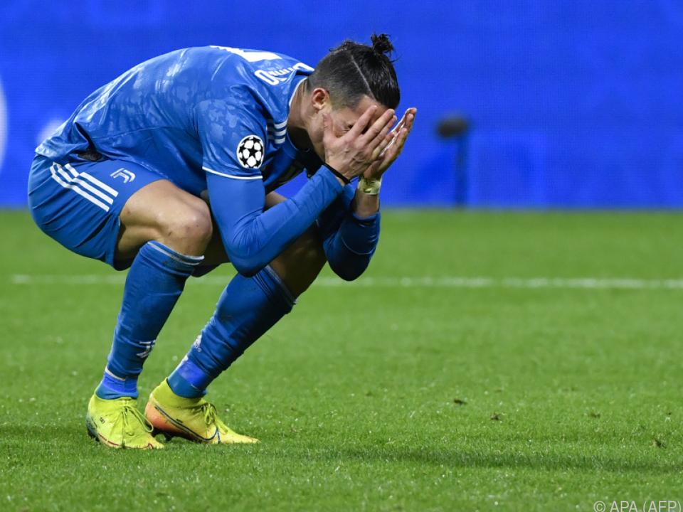 Cristiano Ronaldo steht mit Juventus vor Aus in der Champions League