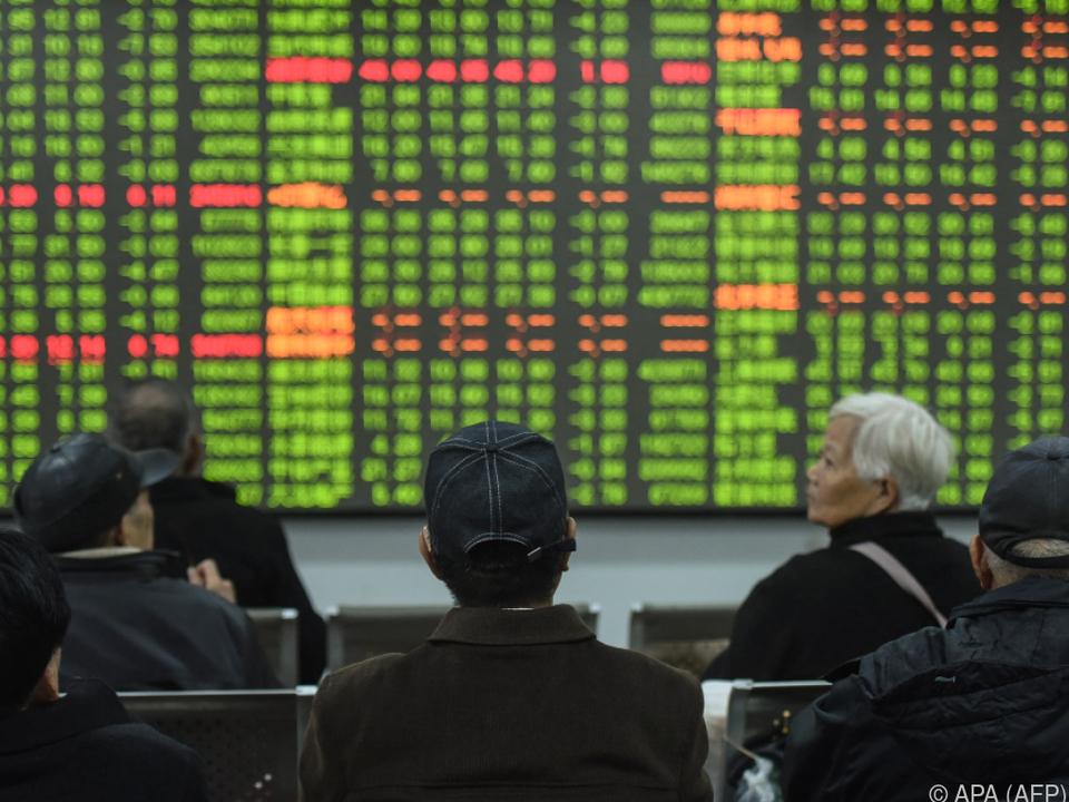 Die Börsenkurse in China zeigten am Montag Wirkung
