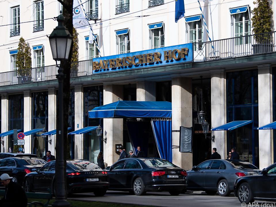 Die Sicherheitskonferenz findet im Hotel \