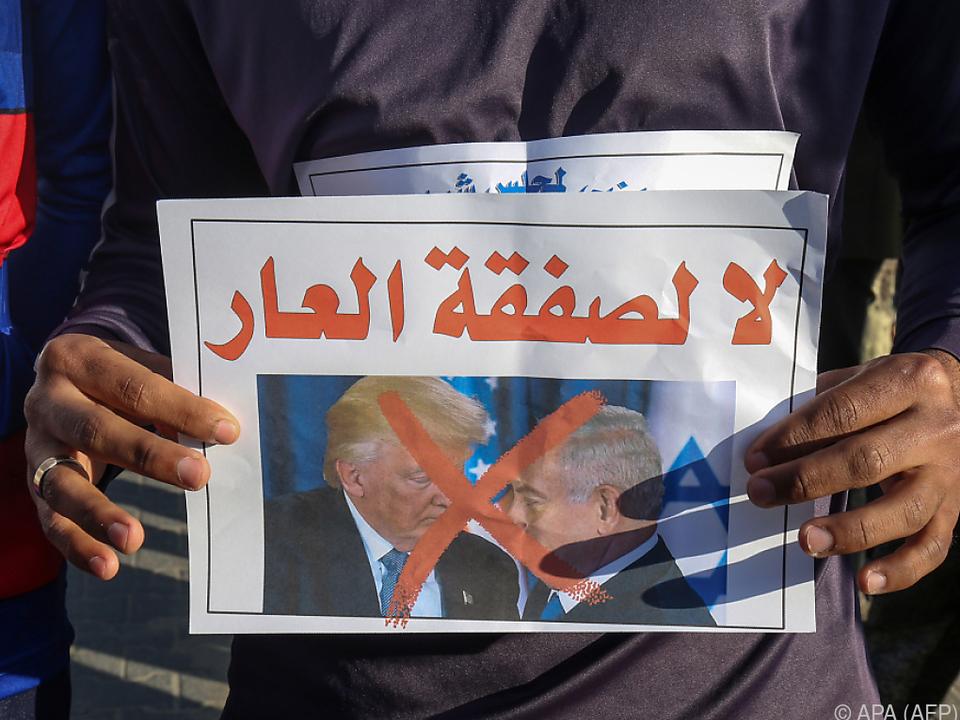 Es handelt sich wohl um eine Reaktion auf Trumps Nahost-Friedensplan