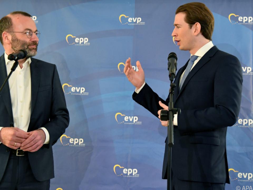 EVP-Vorsitzender Weber und Kanzler Kurz in Salzburg