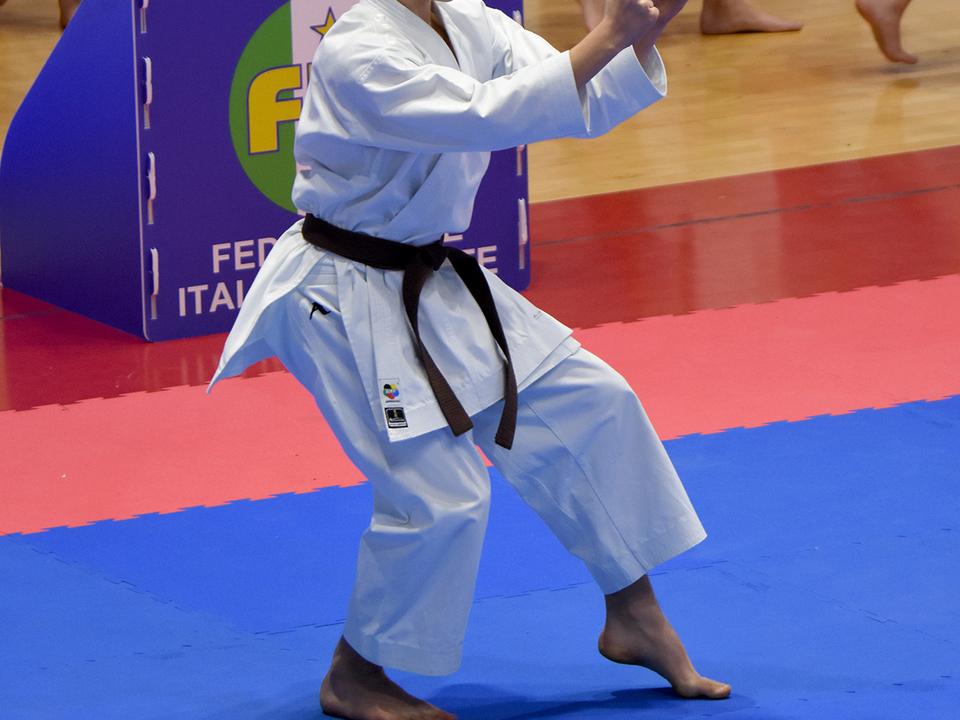 Fabian Pezzei beim Kata