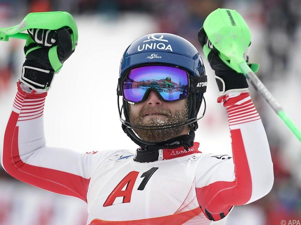Im Slalom hat Marco Schwarz die besten Karten