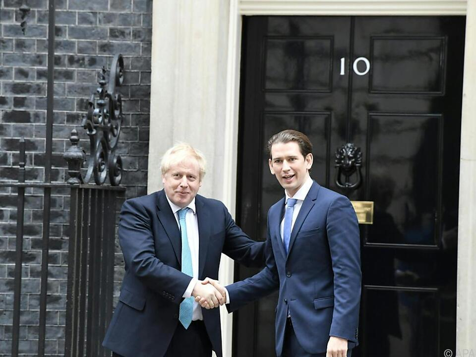 Johnson empfing Kurz in der Londoner Downing Street