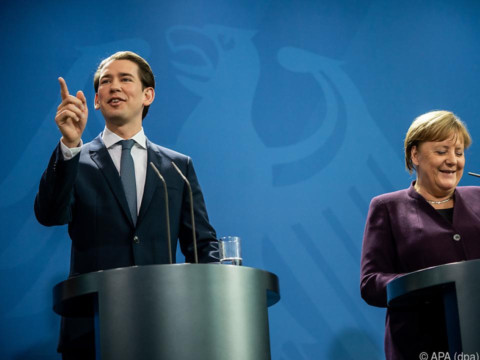 Kanzler Kurz zu Besuch in Deutschland