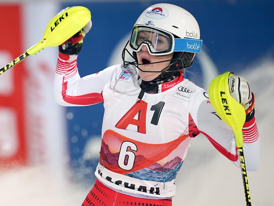 Katharina Truppe sicherte sich in Kranjska Gora den dritten Platz