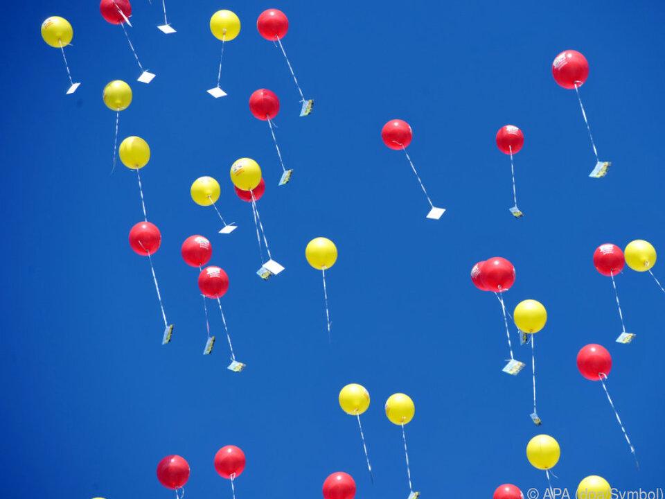 Luftballonen können gesundheitsschädliche Stoffe enthalten