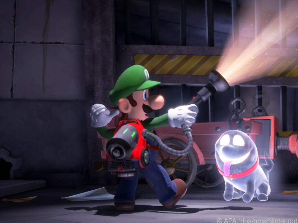 Mit Luigi und dem Geisterhund geht es in \