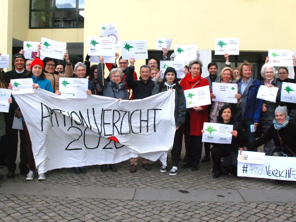 MittrÑger der Aktion Verzicht_Partecipanti azione io rinuncio 2020