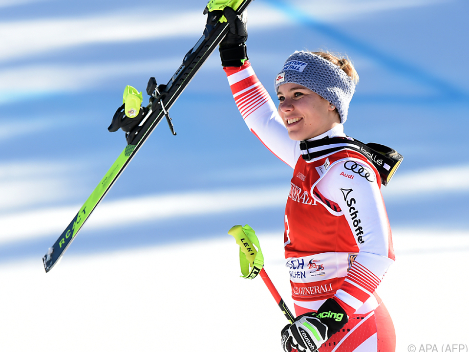Nicole Schmidhofer war zuletzt Zweite in Garmisch