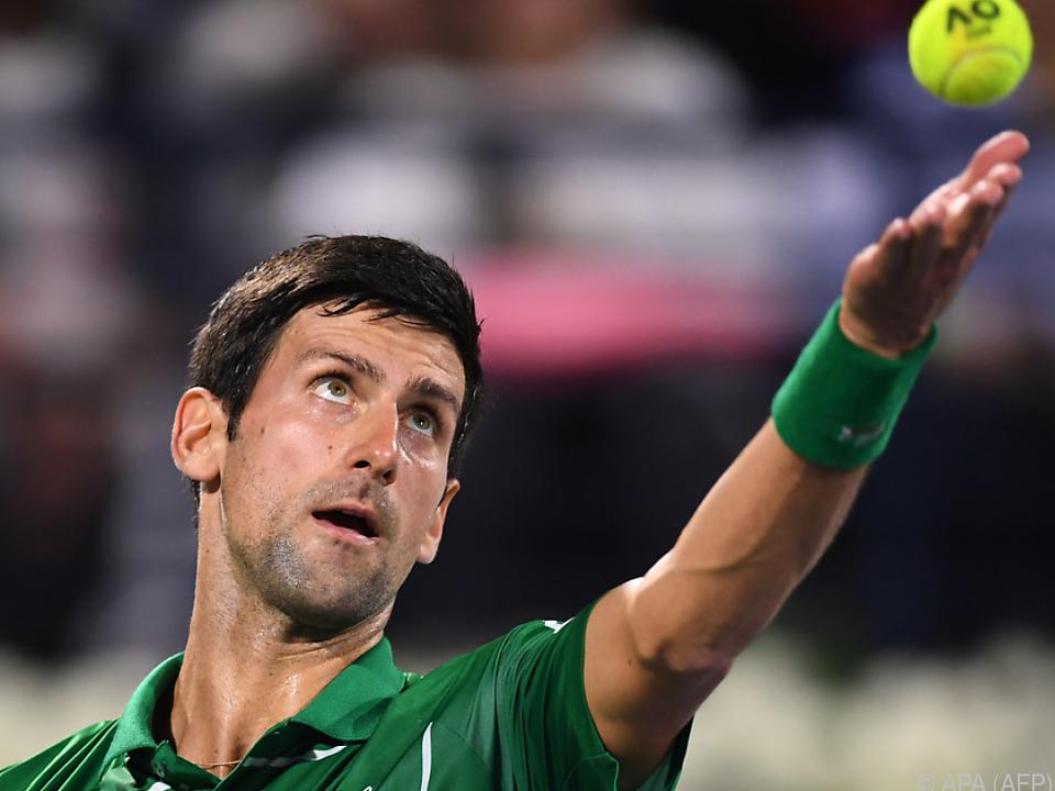Novak Djokovic ist heuer noch ungeschlagen