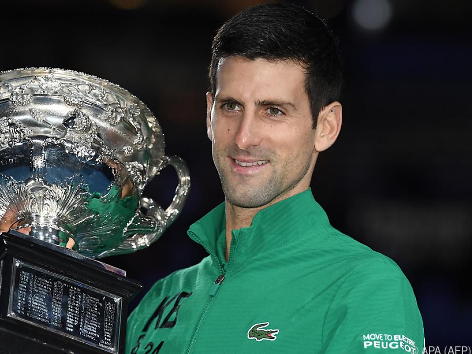 Novak Djokovic nach dem Australian Open Triumph