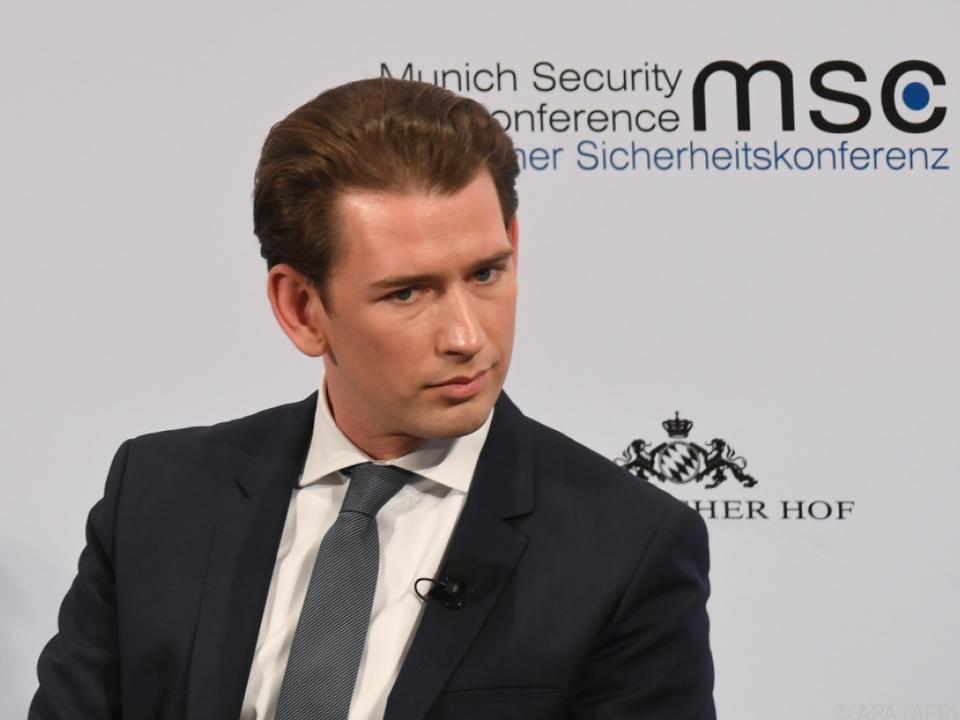 Österreichs Bundeskanzler Kurz sucht Nähe der USA, nicht des Iran