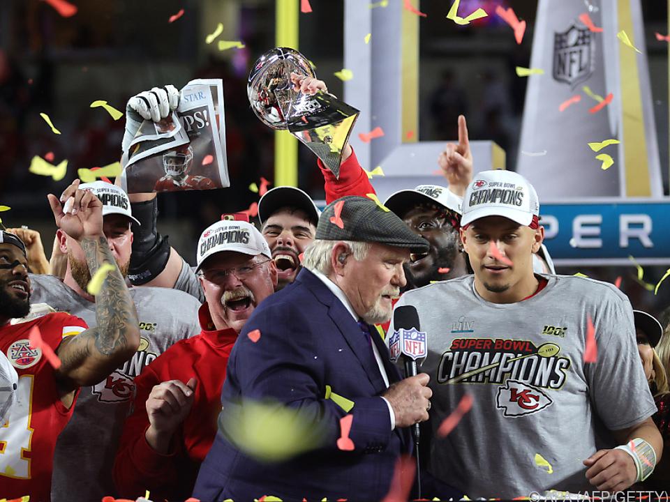 Patrick Mahomes nach dem Super Bowl Triumph