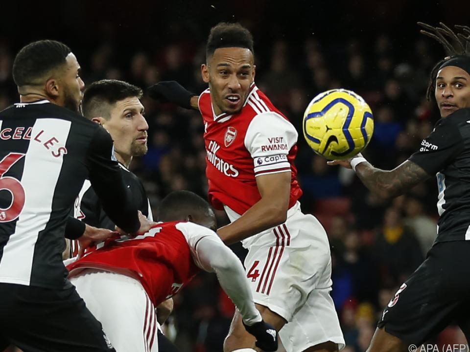 Pierre-Emerick Aubameyang traf beim 4:0 gegen Newcastle