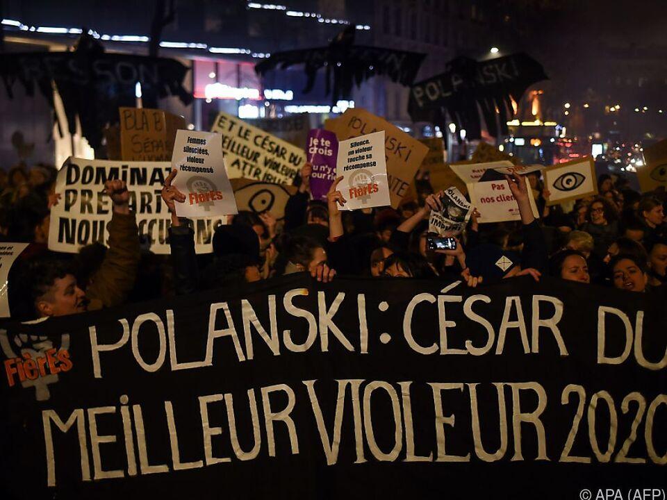 Proteste vor und im Saal gegen Preisverleihung an Polanski