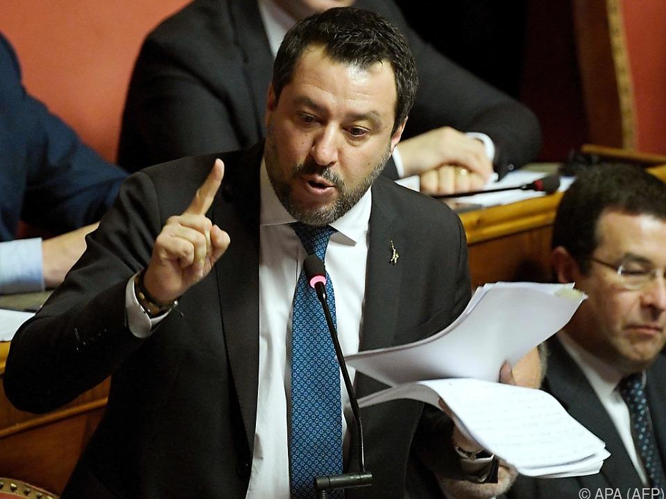 Salvini drohen bis zu 15 Jahre Haft