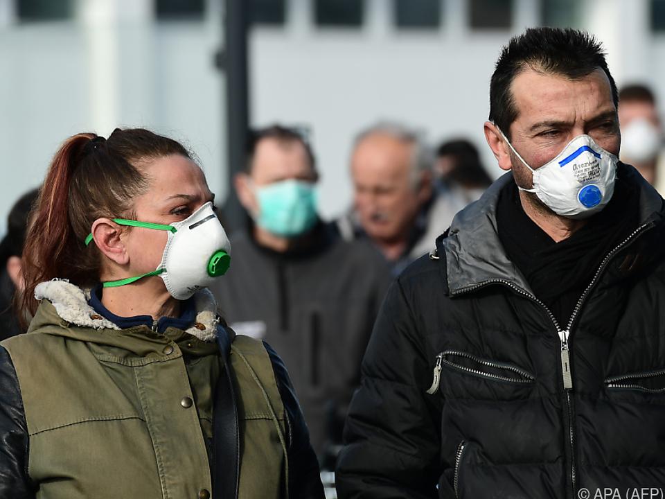 Schutzmasken finden in Italien reißenden Absatz