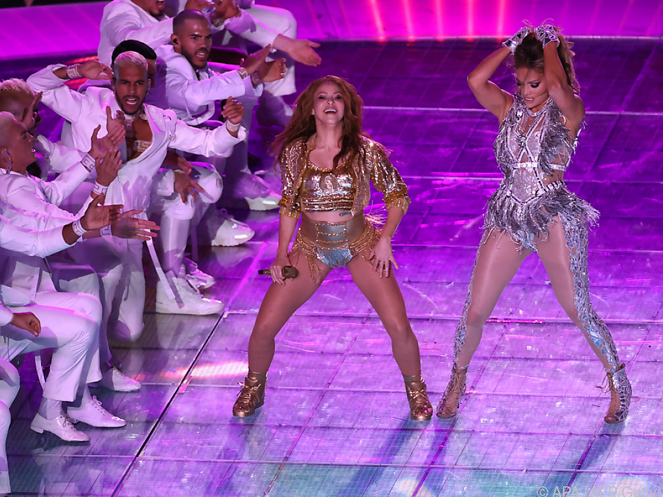 Shakira und Lopez lieferten eine fulminante Show