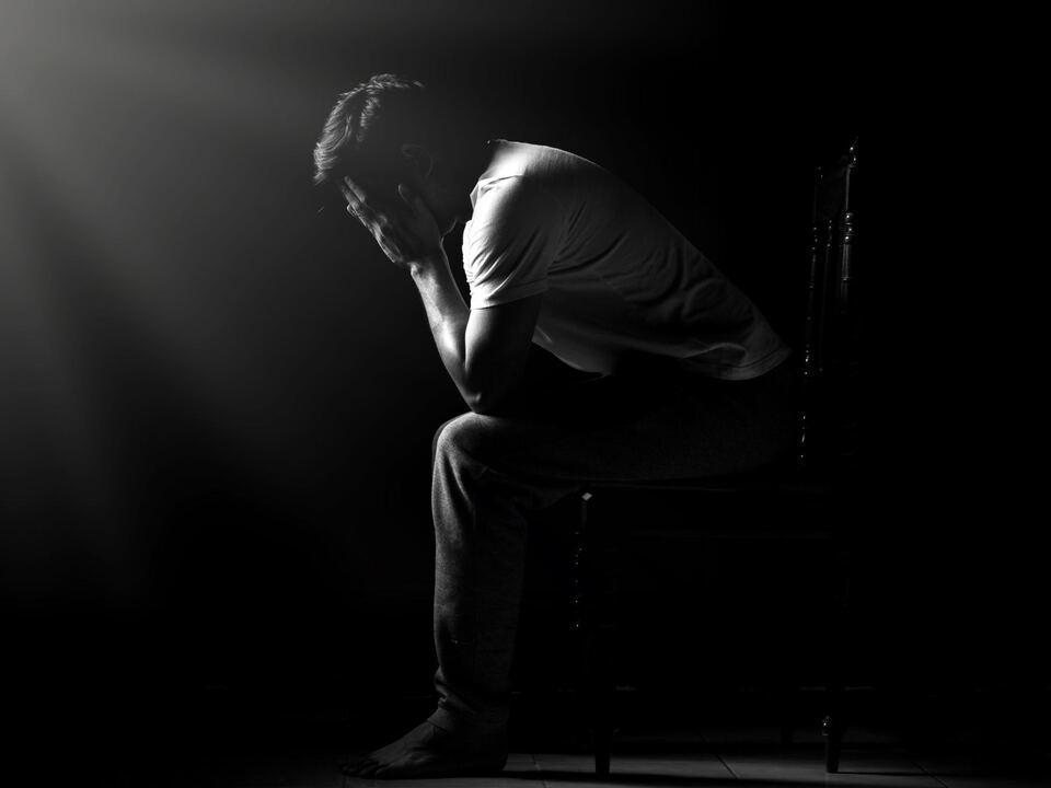 Mann Verzweiflung Depression