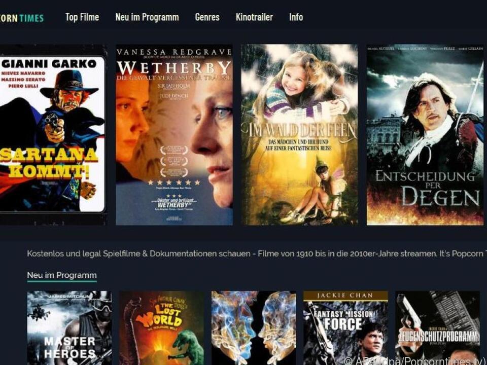 Tausende Spielfilme aus den Jahren 1910 bis 2010 bietet Popcorntimes.tv an
