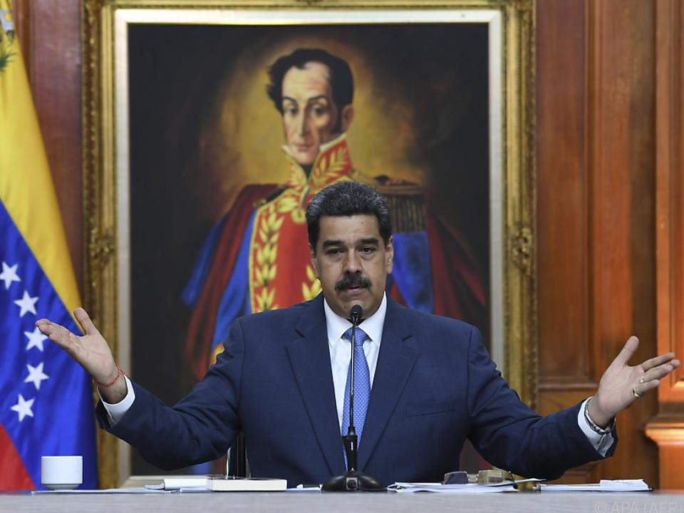 Venezuelas umstrittener Präsident Nicolas Maduro