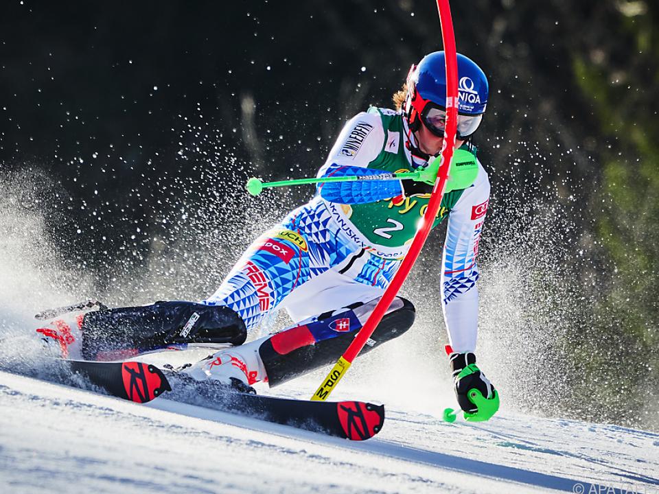 Vlhova voll im Rennen um den Slalomweltcupsieg